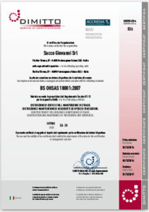Certificato OHSAS