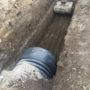 preparazione scavo innesto nuova condatta
